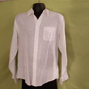 Irish Linen Brooks Brothers button down shirt